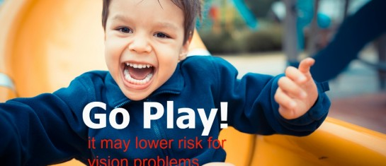 kid's vision may be helped by playing outside more
